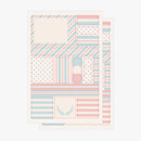Comes with 2 sheets - PLEPLE Pattern paper deco sticker set