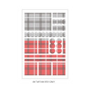08 Tartan Red Gray - PLEPLE Check paper deco sticker set