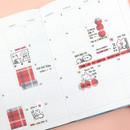 Usage example - PLEPLE Check paper deco sticker set