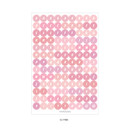 02 Pink - PAPERIAN Color palette Alphabet and Number deco sticker set
