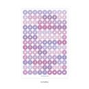 03 Purple - PAPERIAN Color palette Alphabet and Number deco sticker set