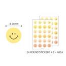 Size - PAPERIAN Color palette Smile deco sticker set