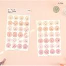 02 Pink - PAPERIAN Color palette Smile deco sticker set