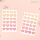 04 Two tone Pink - PAPERIAN Color palette Heart deco sticker set