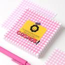 Cosmos - Wanna This Picnic 3mm check 4 designs memo notes notepad