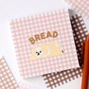 Bread - Wanna This Picnic 3mm check 4 designs memo notes notepad
