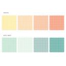 Color - Wanna This Picnic 3mm check 4 designs memo notes notepad