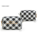 Check Gray - Monopoly Cherish every moment small PU zipper pouch case