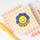 Freesia - Wanna This Picnic 6mm check 4 designs memo notepad