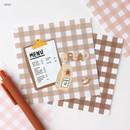 Bread - Wanna This Picnic 6mm check 4 designs memo notepad