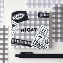 Night - Wanna This Picnic 6mm check 4 designs memo notepad