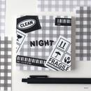 Night - Wanna This Picnic 6mm check 4 designs memo notepad