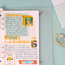 Usage example - Wanna This Palette 3mm grid 4 designs memo notepad