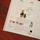 Usage example - Dailylike Alphabet removable paper diary deco sticker seal