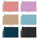 Color - Wanna This Palette fabric zipper pouch with a strap