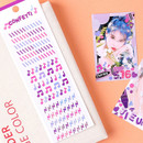 Usage example - Wanna This Confetti aurora pearl mini deco sticker 02