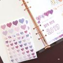 04 - PLEPLE Love in Life paper deco sticker 2 sheets