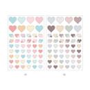 01, 02 - PLEPLE Love in Life paper deco sticker 2 sheets