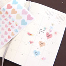 01 - PLEPLE Love in Life paper deco sticker 2 sheets