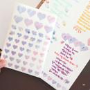 10 - PLEPLE Love in Life paper deco sticker 2 sheets