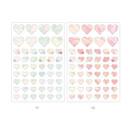 11, 12 - PLEPLE Love in Life paper deco sticker 2 sheets