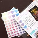 09 - PLEPLE Love in Life paper deco sticker 2 sheets