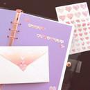12 - PLEPLE Love in Life paper deco sticker 2 sheets