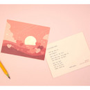 Usage example - Ardium The memory of the moon postcard
