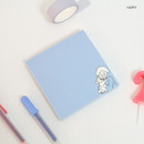 Happy - DESIGN GOMGOM My You illustration memo notepads