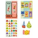 Composition - ROMANE MonagustA removable deco sticker pack