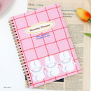 Red check - Reeli 6 months dateless monthly planner notebook