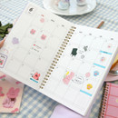 Monthly plan - Reeli 6 months dateless monthly planner notebook