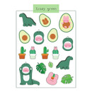 Cozy Green - DESIGN GOMGOM Reeli removable deco sticker