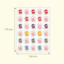 Size - DESIGN GOMGOM Reeli face clear deco sticker 2 sheets