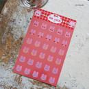 Heart - DESIGN GOMGOM Reeli face clear deco sticker 2 sheets