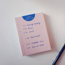 Time - Today's things to do small memo checklist planner notepad
