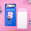 Stylish - Reeli clipboard memo holder with checklist notepad