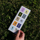 DESIGN GOMGOM Common days post stamp adhesive sticker sheet