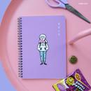 Bubble Gum - DESIGN GOMGOM Common days spiral bound lined notebook