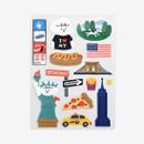 New York removable paper deco sticker