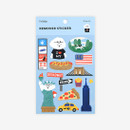 Package of New York removable paper deco sticker