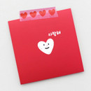 Usage example - 2NUL Heart decorative paper masking tape
