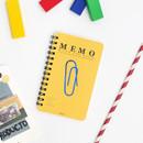 Yellow - ROMANE Signature spiral bound mini blank notebook