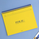 Yellow - Signature PDR.H spiral bound dateless daily study planner
