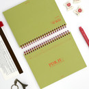 Olive - Signature PDR.H spiral bound dateless daily study planner