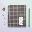 Gray - Ardium Grid spiral bound dateless weekly study planner