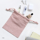 Pink - GMZ Around'D Oui Oui fabric drawstring pouch
