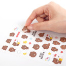 Clear stickers - Monopoly Brown friends clear deco sticker