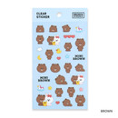 Brown - Monopoly Brown friends clear deco sticker
