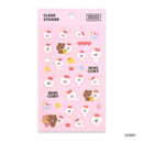 Cony - Monopoly Brown friends clear deco sticker